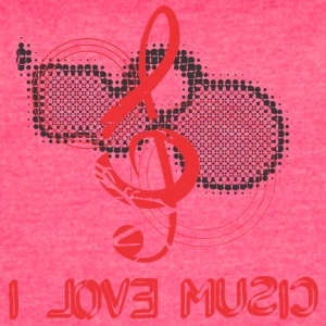 I LOVE MUSIC - Women's Vintage Sport T-Shirt