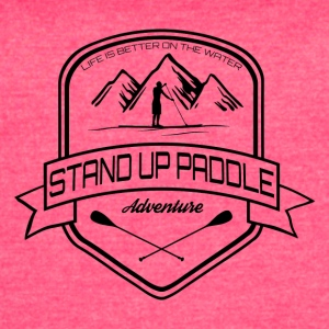Stand Up Paddle Adventure - men dark - Women's Vintage Sport T-Shirt
