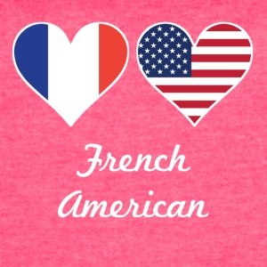 French American Flag Hearts - Women's Vintage Sport T-Shirt