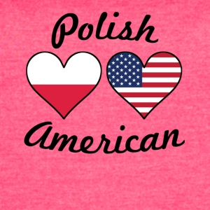 Polish American Flag Hearts - Women's Vintage Sport T-Shirt