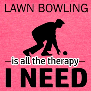 Lawn Bowling is my therapy - Women's Vintage Sport T-Shirt