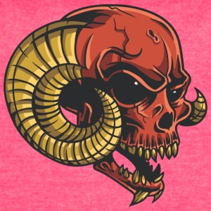 red_demon_skull - Women's Vintage Sport T-Shirt