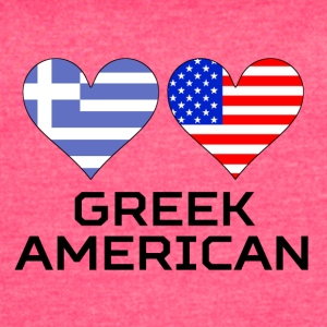 Greek American Hearts - Women's Vintage Sport T-Shirt