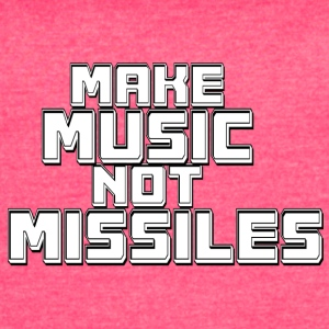 Music_not_missiles - Women's Vintage Sport T-Shirt