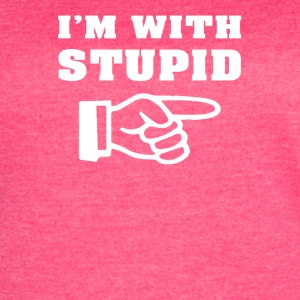 I m With Stupid - Women's Vintage Sport T-Shirt