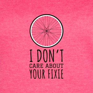 I don't care about your Fixie - BMX cyclist - Women's Vintage Sport T-Shirt