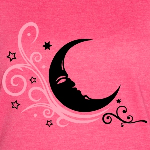 Large moon with Tribal and stars. - Women's Vintage Sport T-Shirt