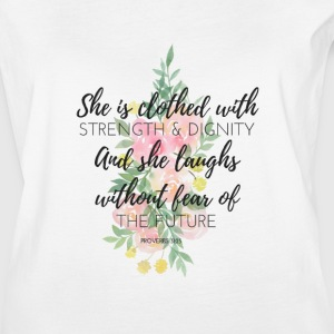 And She Laughs Without Fear of the Future - Women's Vintage Sport T-Shirt