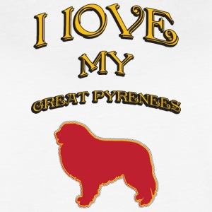 I LOVE MY DOG Great Pyrenees - Women's Vintage Sport T-Shirt