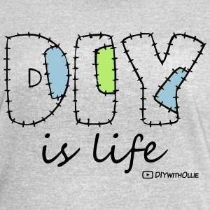 DIY is Life (Black Text) - Women's Vintage Sport T-Shirt