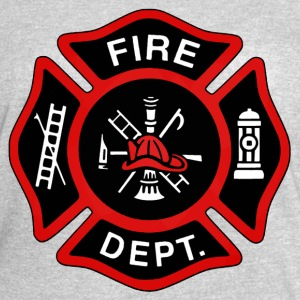 Red Fire Department Badge - Women's Vintage Sport T-Shirt