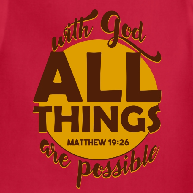 With God, all things are possible