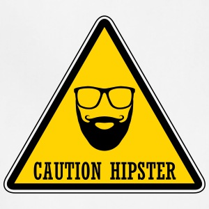 Caution Hipster Warning sign - Adjustable Apron