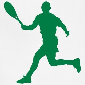 Tennis player silhouette 4 - Adjustable Apron