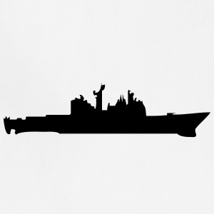 Vector Navy warship Silhouette - Adjustable Apron