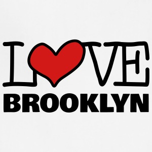 Love Brooklyn with Pink Heart - Adjustable Apron