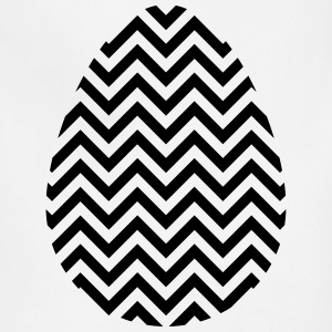 Black Easter Egg Chevron - Adjustable Apron