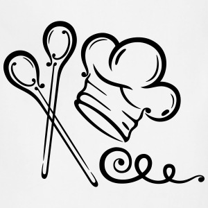 Cooking hat with spoons, kitchen motif. - Adjustable Apron