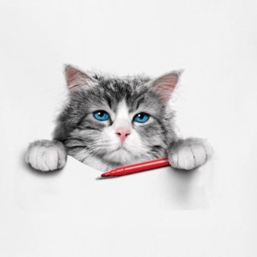 T-shirt cat cute - Adjustable Apron