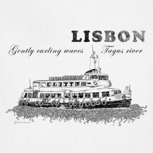 Lisbon - Gently curling waves Tagus river - Adjustable Apron