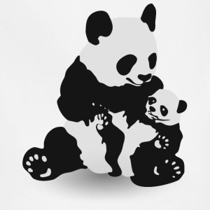 Panda & Baby Panda - Adjustable Apron