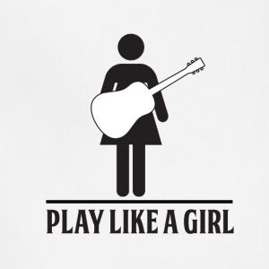 Play like a Girl - Acoustic - Adjustable Apron