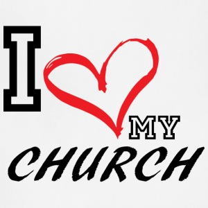 I_LOVE_MY_CHURCH - PLUS SIZE FIT - Adjustable Apron