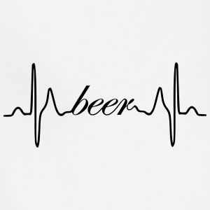Beer ECG heartbeat - Adjustable Apron