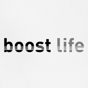 Black/Grey Boost Life Short Sleeve T-Shirt - Adjustable Apron