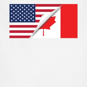 Half American Half Canadian Flag - Adjustable Apron