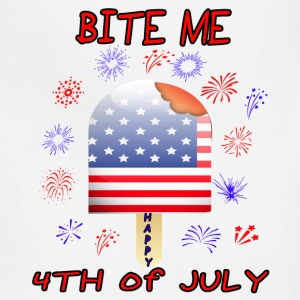 Funny Patriotic 4th of July Independence Bite Me! - Adjustable Apron