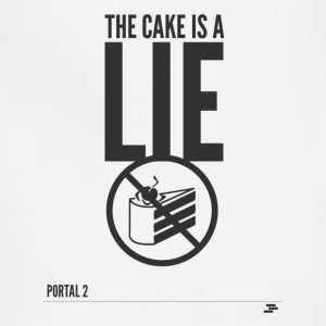 Warning: the cake is a lie - Adjustable Apron