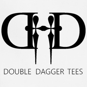Double Dagger Logo Design on Mens and Womens Shirt - Adjustable Apron