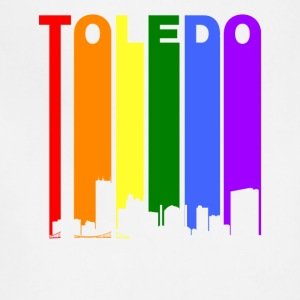 Toledo Ohio Rainbow Skyline LGBT Gay Pride - Adjustable Apron