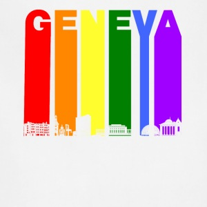 Geneva Switzerland Skyline Rainbow LGBT Gay Pride - Adjustable Apron