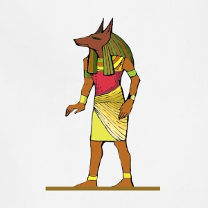 Ancient Egyptian Painting - Anubis, the Wolf God - Adjustable Apron
