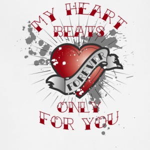my heart beats for you - Adjustable Apron