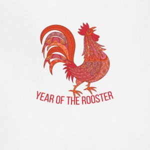 Year of Rooster - Happy new year 2017 - Adjustable Apron