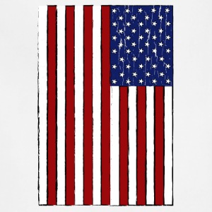 USA Flag (Distressed) - Adjustable Apron
