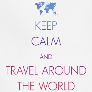 Keep calm and travel around the world - Adjustable Apron