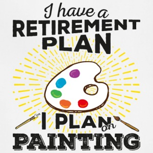 Retirement Plan Painting (dark) - Adjustable Apron
