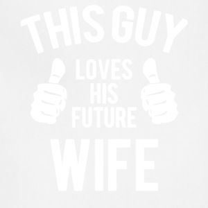 This Guy Loves His Wife T Shirt - Adjustable Apron