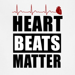 heart beats matter! - Adjustable Apron