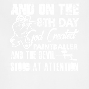 God Created Paintballer Shirt - Adjustable Apron