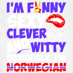 Im Funny Sexy Clever And Witty Im Norwegian - Adjustable Apron