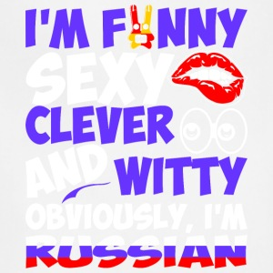 Im Funny Sexy Clever And Witty Im Russian - Adjustable Apron