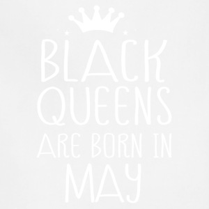 Black queens are born in May - Adjustable Apron