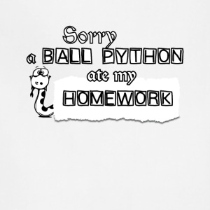 Sorry A Ball Python Ate My Homework Tee Shirt - Adjustable Apron