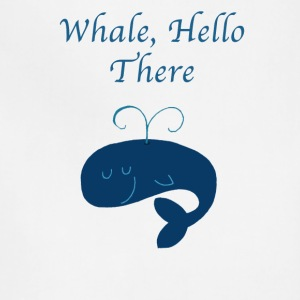 Whale Hello There Funny Graphic Tee Shirt - Adjustable Apron