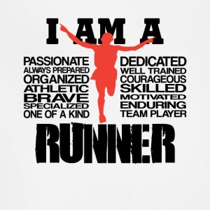 I am a runner Cool Graphic Tee Shirt - Adjustable Apron